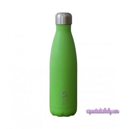 Botella Chilly´s Inox Verde Neón 500 mL.