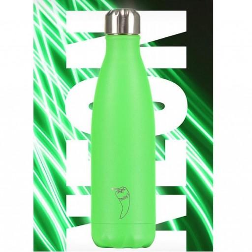 Botella Chilly´s Inox Verde Neón 500 mL. [2]