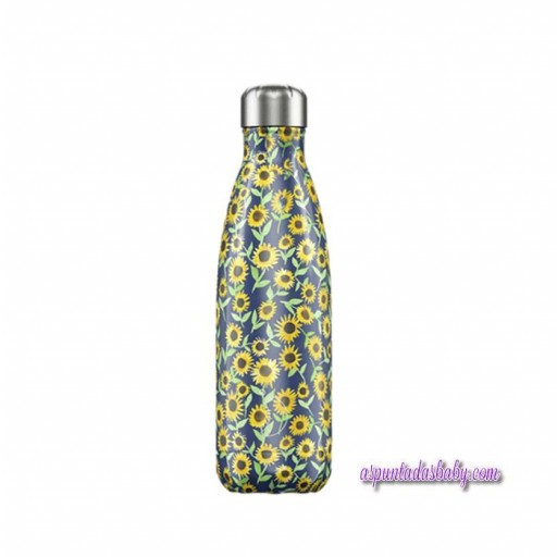 Botella Chilly´s Inox mod. Girasoles 500 mL.