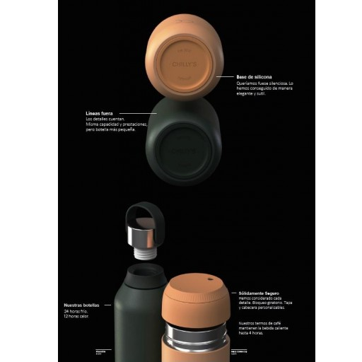 Botella Chilly´s serie 2 color rojo 500 ml. [3]