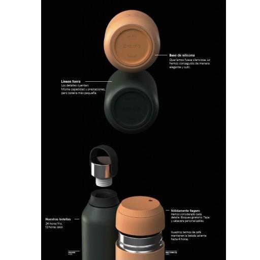 Botella Chilly´s serie 2 color peach 500 ml. [3]