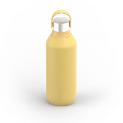 Botella Chilly´s serie 2 color amarillo pollen 500 ml.