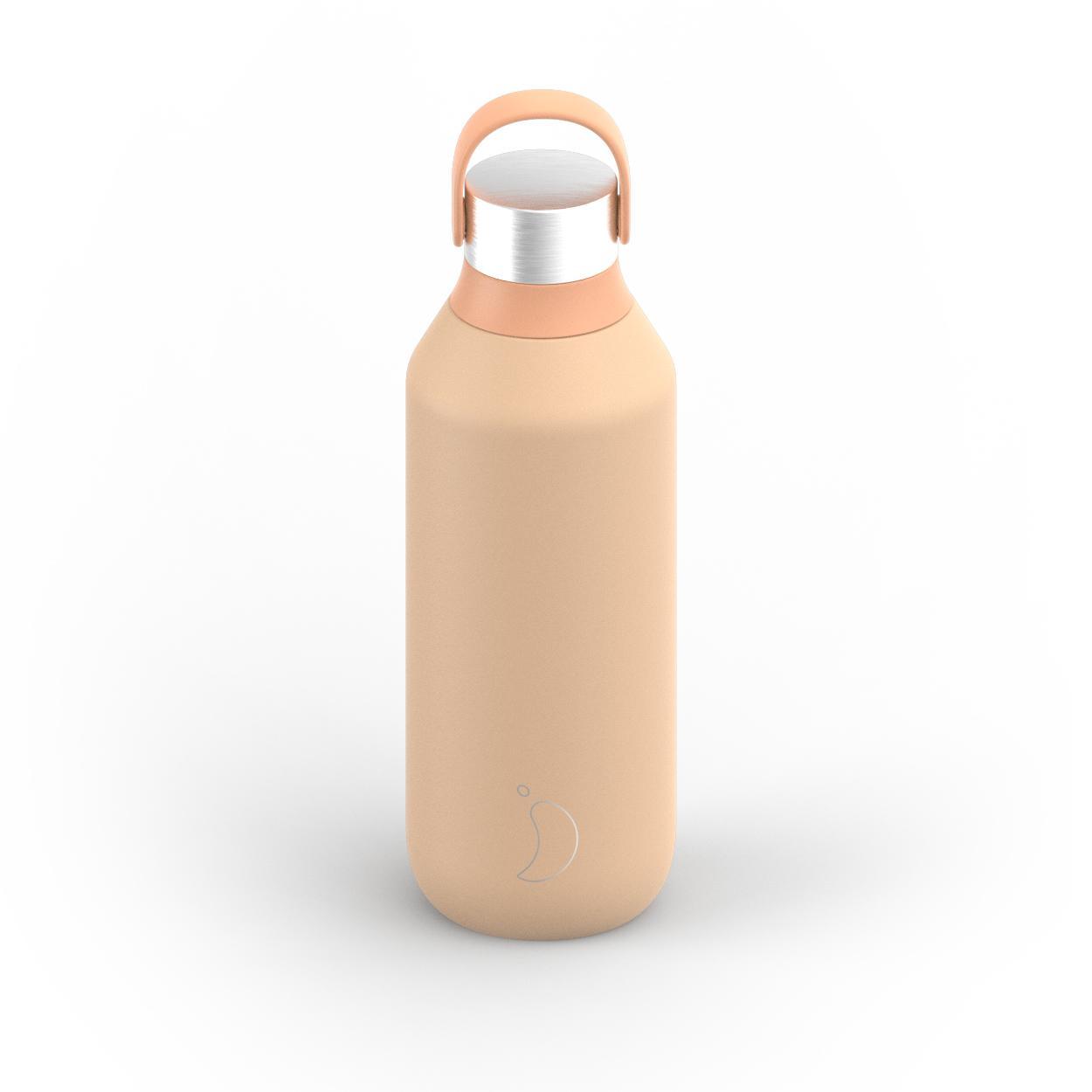 Botella Chilly´s serie 2 color peach 500 ml.