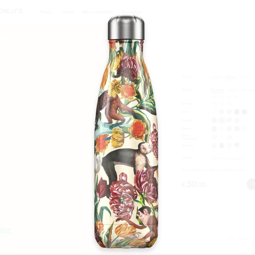 Botella Chilly´s Inox mod.Tropical Monkey 500 ml