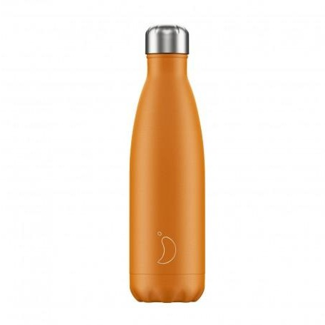 Botella Chilly´s Inox mod. Naranja Neón 500 ml