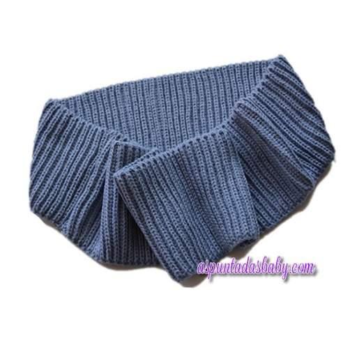 Bufanda Ancar color azul bruma.