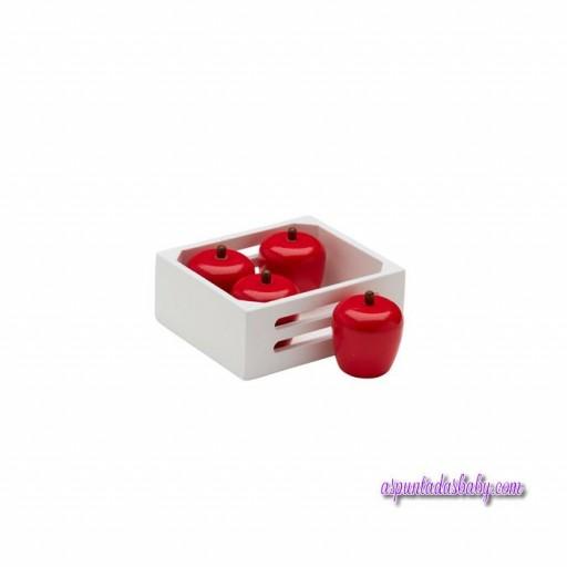 Caja de frutas 4 pcs manzanas