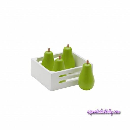 Caja de frutas 4 pcs peras