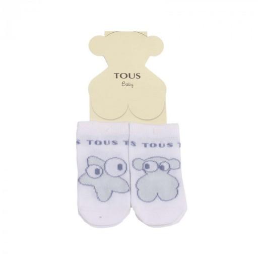 Set calcetines Baby Tous mod. oso y estrella Sweet Socks Celeste.