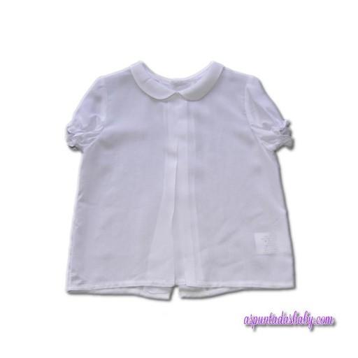 Camisa Ancar bebé viscosa blanca.