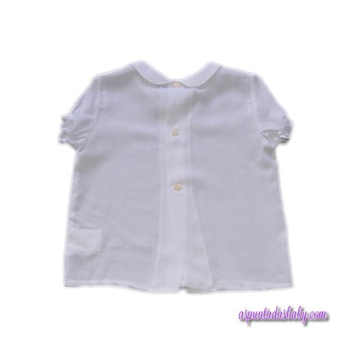 Camisa Ancar bebé viscosa blanca.  [1]