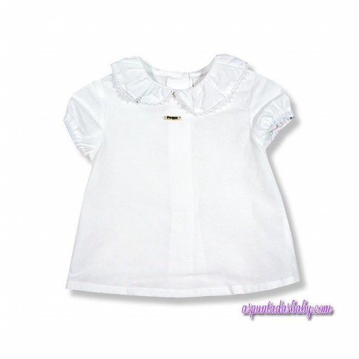 Blusa Foque bebé cuello batista mod. Madeira