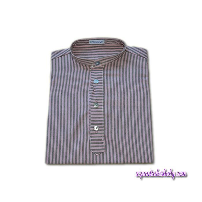 Camisa Ancar cuello mao tapeta y pliegue.