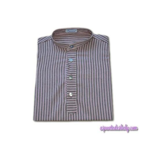 Camisa Ancar cuello mao tapeta y pliegue. [0]