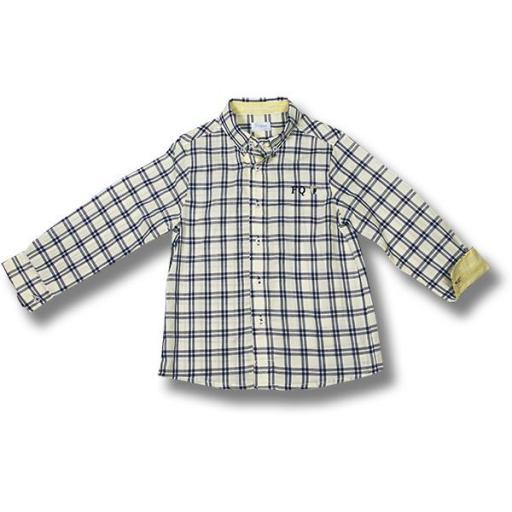 Camisa niño Foque mod. Voile cuadros.