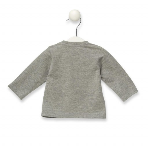 Camiseta Baby Tous manga larga de niño Casual color gris.  [2]