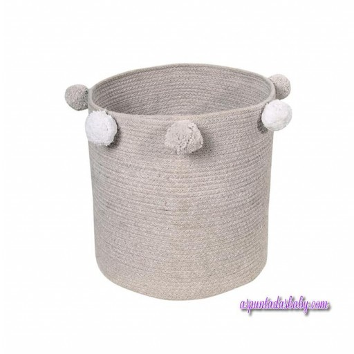 Cesta bebé Lorena Canals mod. Bubbly color gris