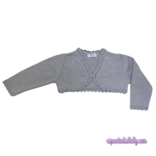 Chaqueta Foque mod. empiece ondas, básica algodón color azul jeans.