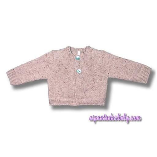 Chaqueta niño Foque modelo barroco color rosa salmón.