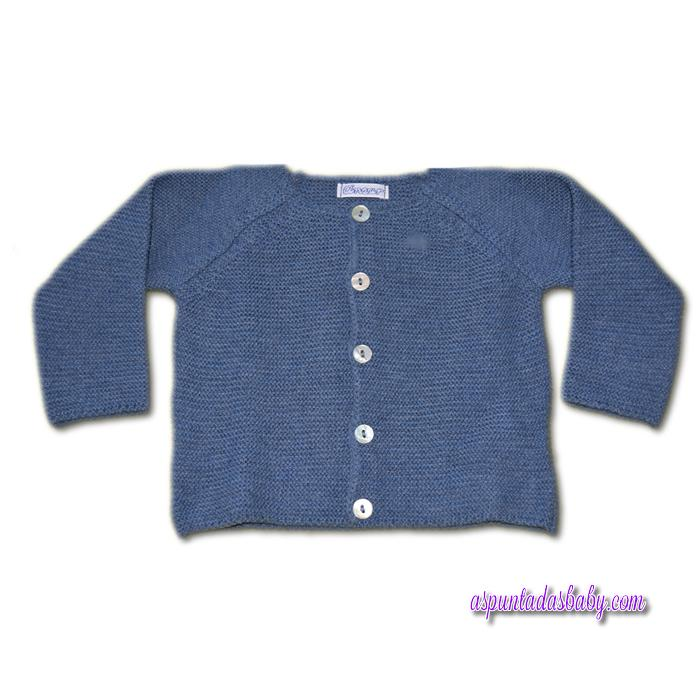 Chaqueta bebé larga Ancar color azul.
