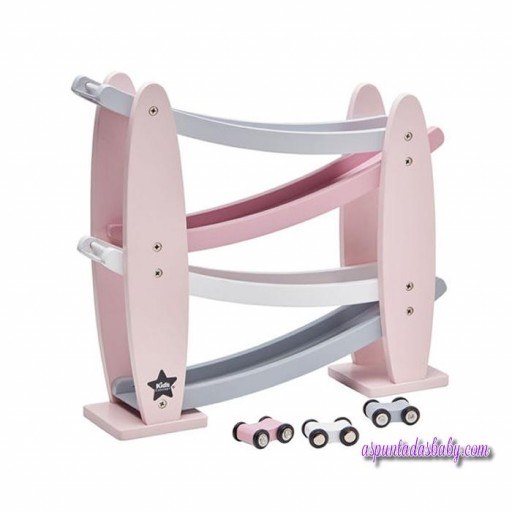 Circuito de coches Kids Concept color rosa