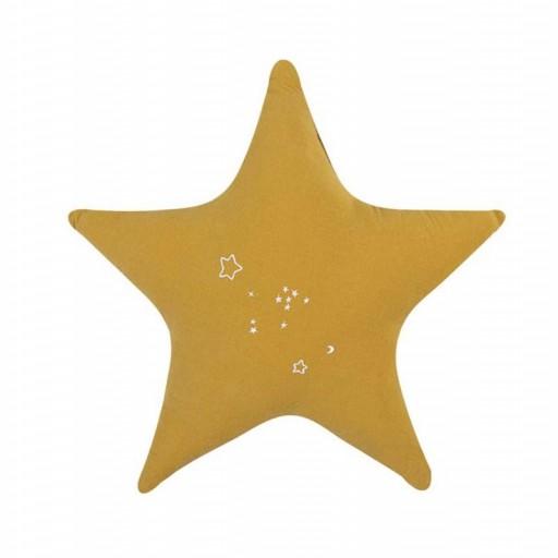 Cojín Estrella Bimbi Casual color ocre