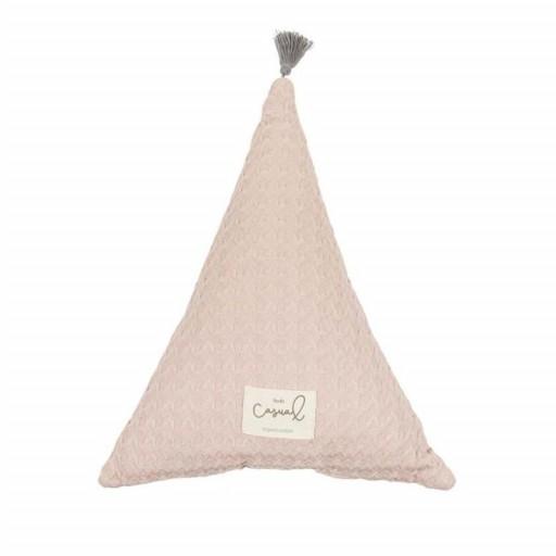 "Cojín triángulo rosa ""Bimbi Casual"""