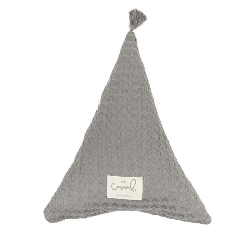 "Cojín triángulo gris marengo ""Bimbi Casual"""