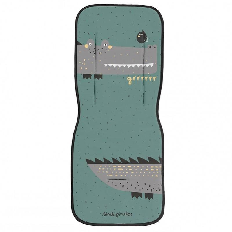 Colchoneta BimbiPirulos para Silla Paseo Universal mod. Coco color verde