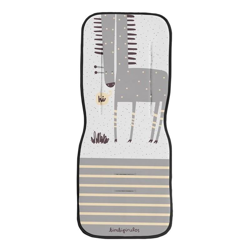 Colchoneta BimbiPirulos para Silla Paseo Universal mod. Jirafa color gris