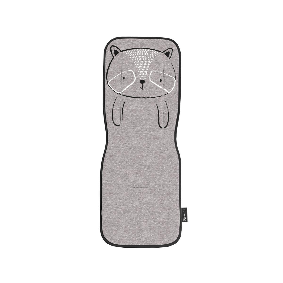 Colchoneta silla de paseo universal Pirulos mod. Zoológico color gris.
