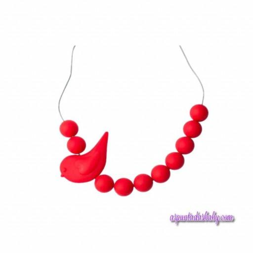 Collar Pajaro Jellystone color rojo.