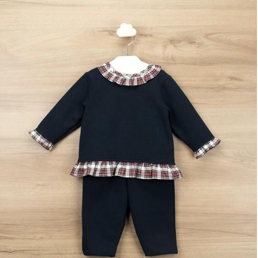 Conjunto Babidu felpa pantalón + sudadera cuello redondo colección Navidad.