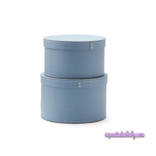 Conjunto de 2 cajas Kids Concept redondas azules