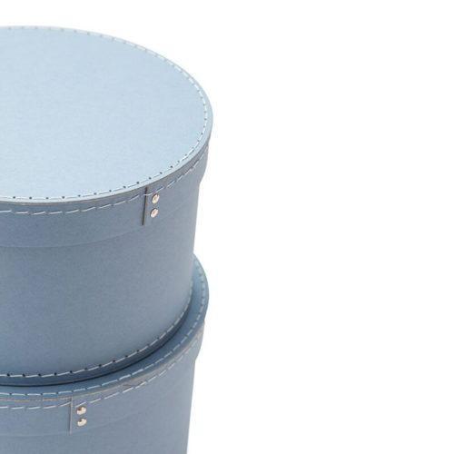 Conjunto de 2 cajas Kids Concept redondas azules [1]