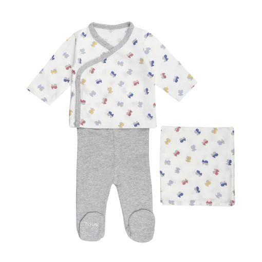 Conjunto de recién nacido  Baby Tous Half Bear Blanco