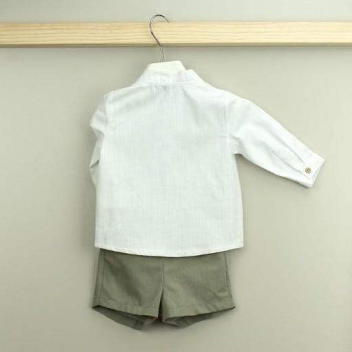 Conjunto Babidu pantalón corto + camisa cuello mao colección Mia. [1]