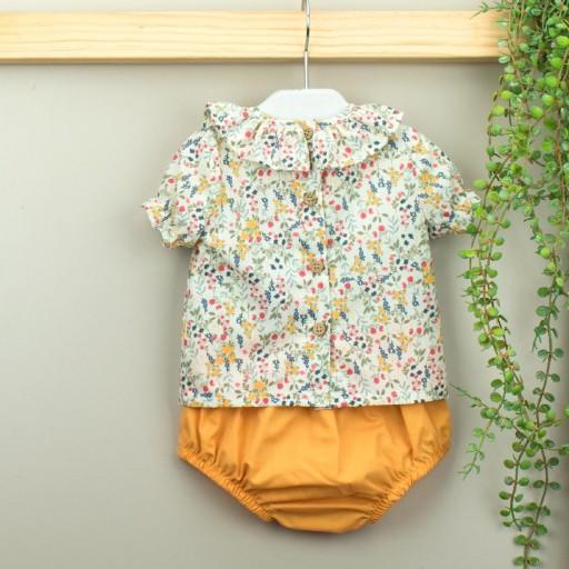 Conjunto Babidu ranita + camisa cuello volante colección Mia. [1]