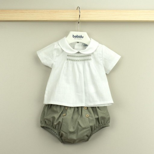 Conjunto Babidu ranita + camisa cuello bebé colección Mia. [0]