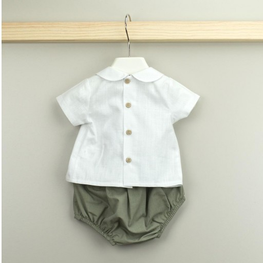 Conjunto Babidu ranita + camisa cuello bebé colección Mia. [1]