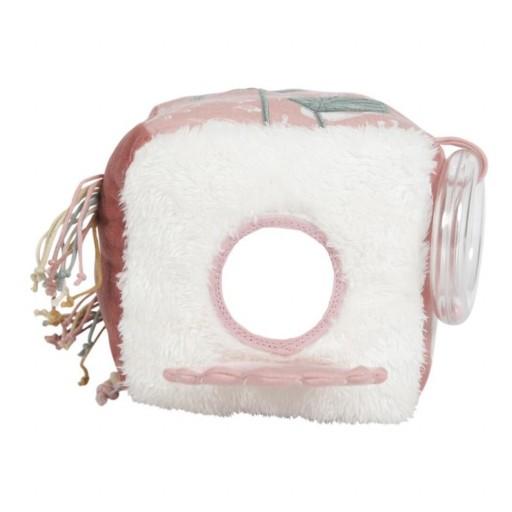 Cubo blandito de actividades Little Dutch omd. ocean rosa.  [1]
