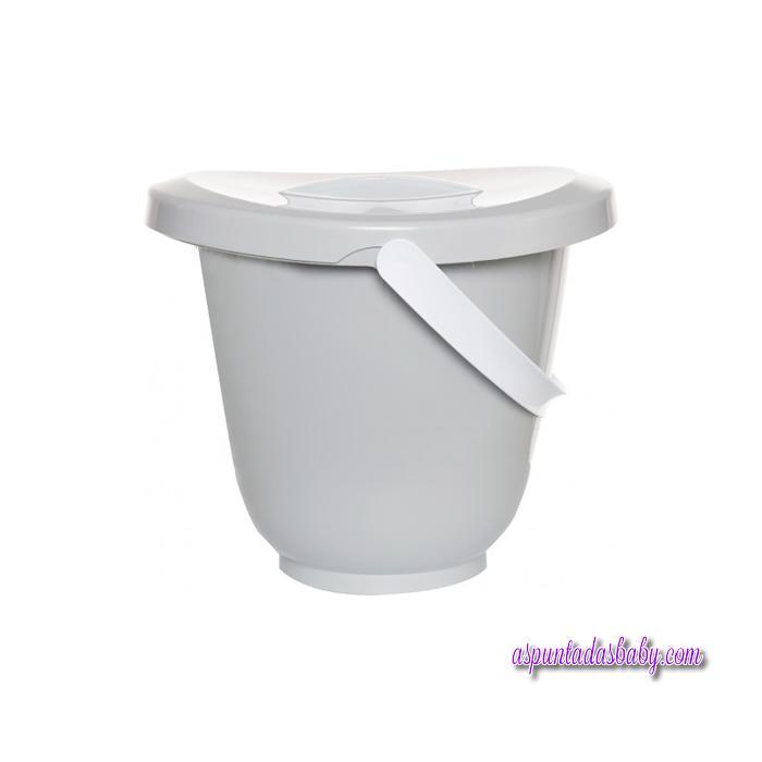 Cubo para pañales light grey de Luma