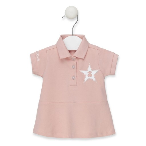 Polo Baby Tous Casual color rosa.