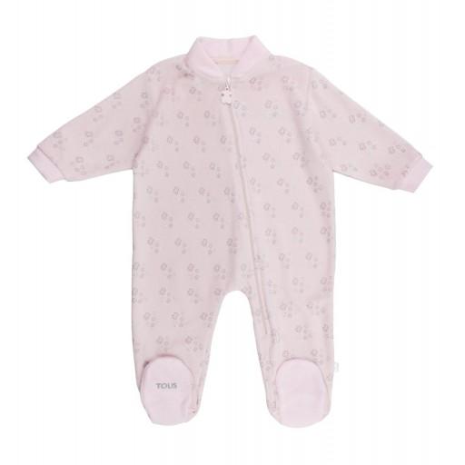 Pelele Baby Tous mod. ConstelT color rosa.