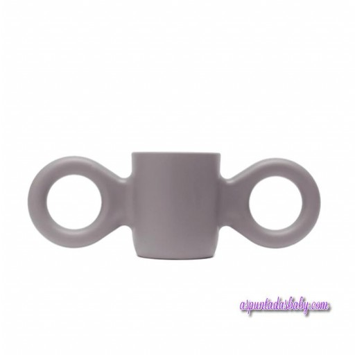 Taza Dombo color gris.
