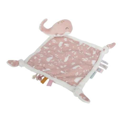 Doudou Ballena Ocean color rosa Little Dutch