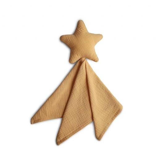 Doudou Mushie Lovely Star Fall Yellow Mushie