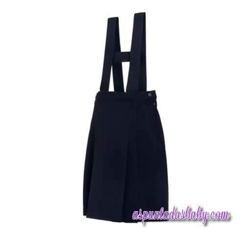 Falda con tirantes colegial color marino. [0]