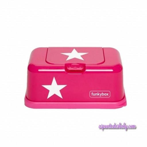 Caja Toallitas Funkybox mod. Estrella color fucsia.