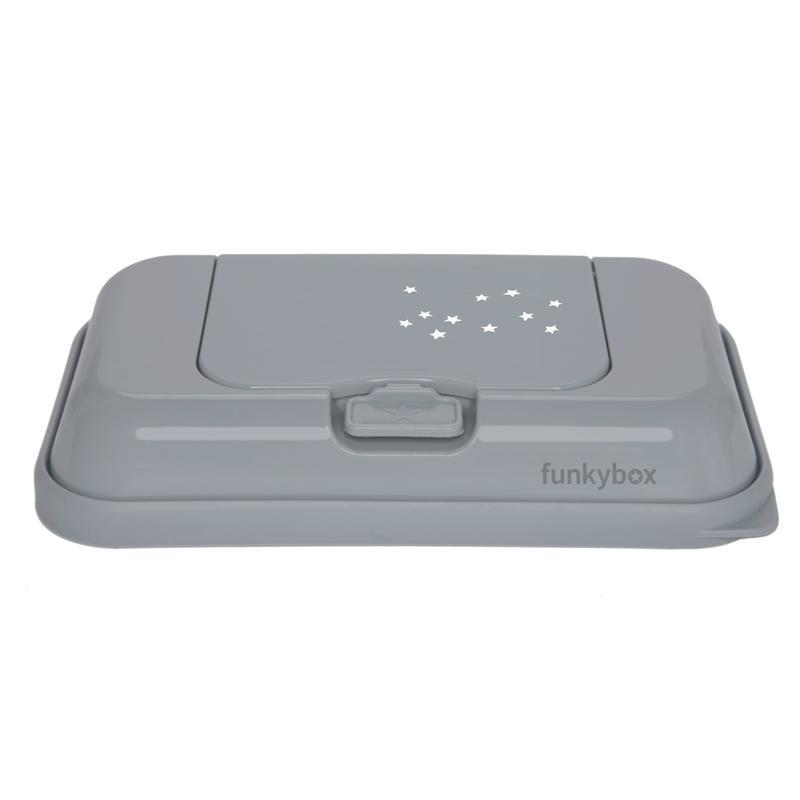 Caja Toallitas Funkybox ToGo mod. Estrellitas color plata.